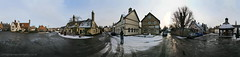 IMG_7377- 86 PAN (Johnnusmentus) Tags: winter panorama snow three pub clocktower houghton horseshoes cambridgeshire georgeanddragon cambs hunts thegreen georgedragon huntingdonshire
