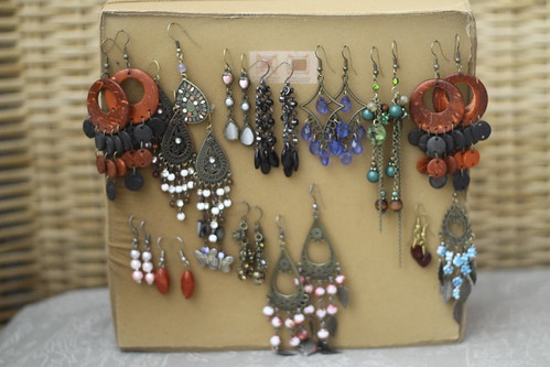 DIY earring holder for (fishhook)