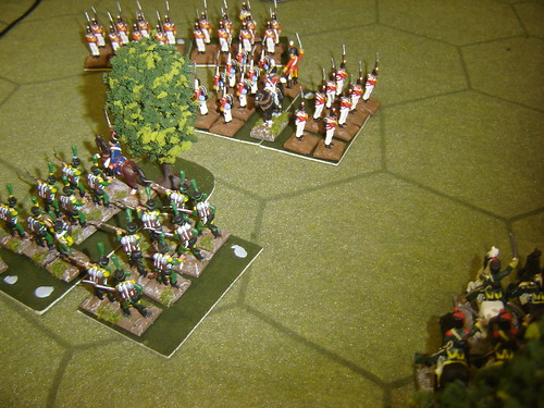British square repulses French light cavalry