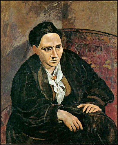 Stein portrait by Pablo Picasso, via thenervousbreakdown.com