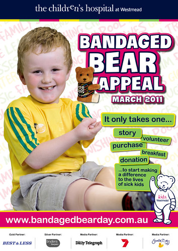 2011 Bandaged Bear Appeal poster (I designed this!)