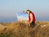 Marine Artist 2 (judibluemed) Tags: england marine westsussex january artists easthead flickrsmileys bitingcoldwind