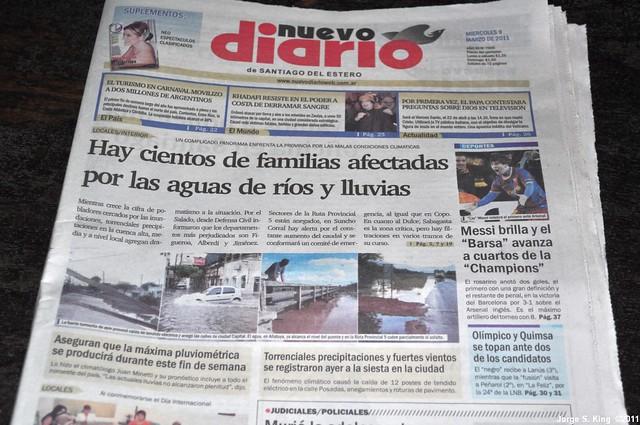 Inundaciones en los medios