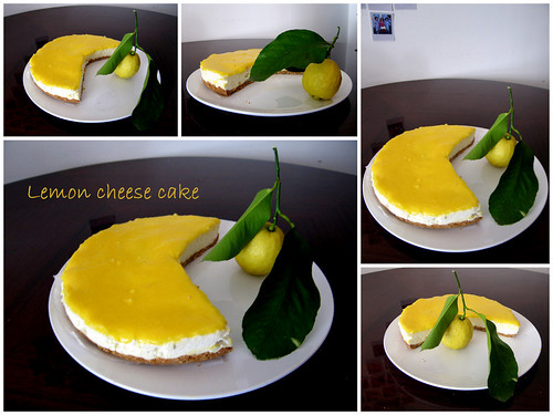Lemon curd cheese cake
