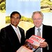World Island Awards founder, Graham Cooke, and Dr Karl Mootoosamy, director, Mauritius Tourism Promotion Authority, enjoy the Breaking Travel News ITB Berlin special edition
