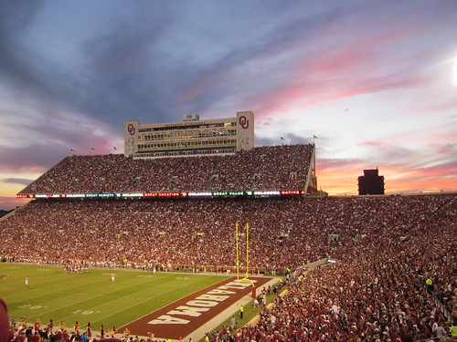 OU Game at Dusk