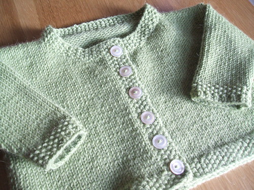 Sweater for a February baby