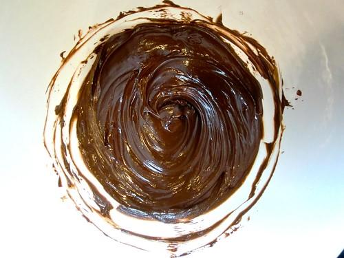 chocolate glaze for Biscotti