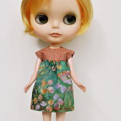 Orange Batik Mini Dress