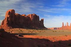 On the road (vlastik) Tags: arizona sunrise march subaru outback monumentvalley 2011 artistspoint
