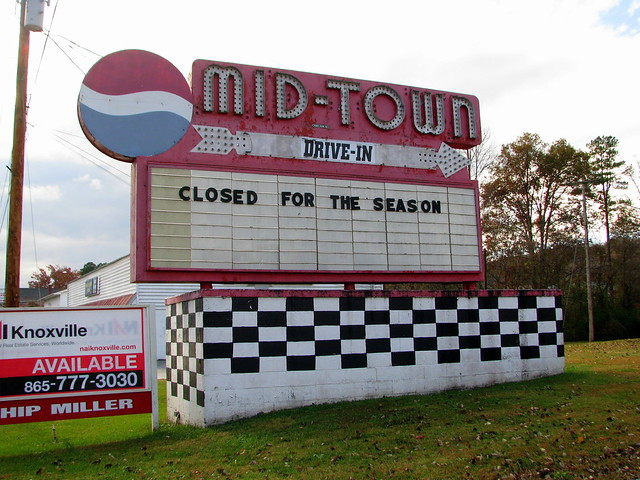 Mid-Town Drive-in Sign - Midtown, TN
