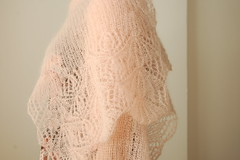 parasol stole - laceweight (this lyre lark) Tags: pink light floral scarf spring knitting lace knit parasol shawl stole ravelry