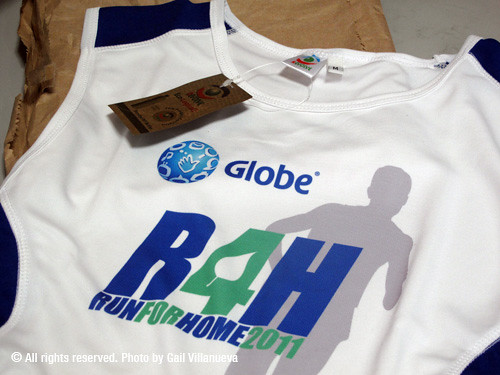 Globe Run for Home 2011 singlet