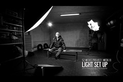 week 11 of 52 * light set-up (Paolo Martinez) Tags: bw selfportrait self typography frames paolo garage flash behindthescenes 1022mm grafica grungy rotalux