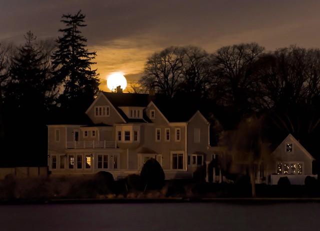Moon Over the House on Argyle