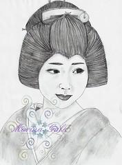 Geiko Mamehana (GionGeiko (Fujiko)) Tags: drawings maiko geiko geisha gion fujiko zeichnungen mamehana