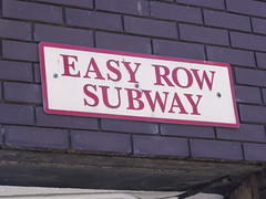 Easy Row Subway - sign (ell brown) Tags: greatbritain england sign underpass subway birmingham unitedkingdom roadsign westmidlands broadst easyrowsubway fletcherswalk easyrow suffolkstqueensway fletcherswalkshoppingmall
