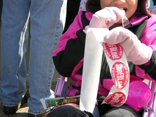 stroller sticker distribution