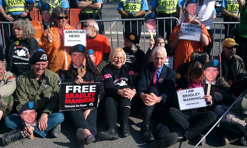 Bradley Manning protest at Quantico