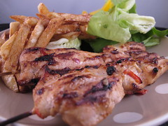 Bounty sate (broadcastmarc) Tags: canon bbq powershot grill fries satay weber cocos g11