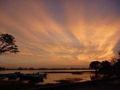 Tissamaharama Wewa (paddy fields) Tags: sunset sky lake reflection clouds spectacular boats lumix fishing southeastasia dusk panasonic srilanka waterproof gloaming ts1 fs1 wewa tissa tissamaharama