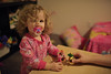 Play with The Three Friends? (nateOne) Tags: playing 35mm toys toddler mommy libby schnivic dottie 35mmf14 threefriends nikond700 iso2200 150secatf14 focusdistance890mm