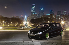 Wide and Green - Summer Mode (Ronaldo.S) Tags: light green art philadelphia vw stairs painting nikon f14 air low rocky sigma poke philly bags gti rs bbs musuem slammed tuck 30mm d90