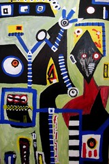 Hustle Bustle (Chris Godber) Tags: uk chris abstract painting paint acrylic expression painter expressionist abstraction godber