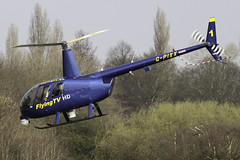 G-PIXX - Newsflight 1 departing Barton after a brief stop