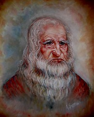 leonardo da vinci by Anna Sponer (Canadian Visual Artist ~ Anna Sponer) Tags: portrait classic painting artist pastel da painter leonardo vinci