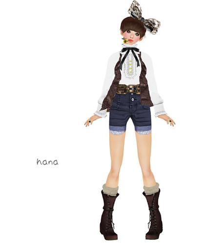 !::: cher!sh :::! *High waist short pants(GY)*1/1