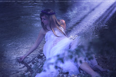 Day 61/365 - Magical Nature (Lucia Rubio) Tags: fairytale photoshop river fairy magicalplace ninfa bluetones magicallight womanportrait 365daysproject marinamartinez womaninwater fairyportrait naturalproject luciarubio