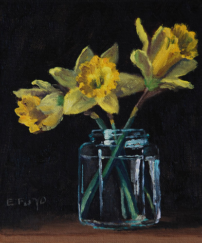 20110324 daffodils in a jar 6x5