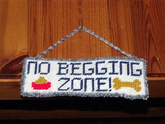 No Begging Zone Sign