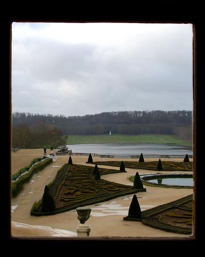 Versailles through glass