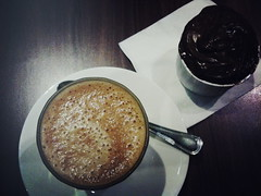 Flat White, Nutella Cupcake, Black Coffee at TripleOne Somerset