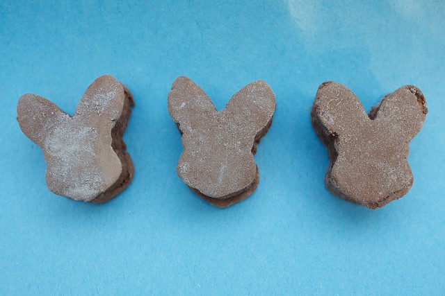 Three little bunnies heads