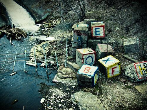 toy block graffiti