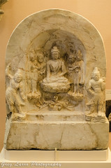 Marble Buddha Votive Tablet (Greg Larro Photography) Tags: marble buddha votive tablet buddhist art china chinese 560 ad field museum natural history chicago