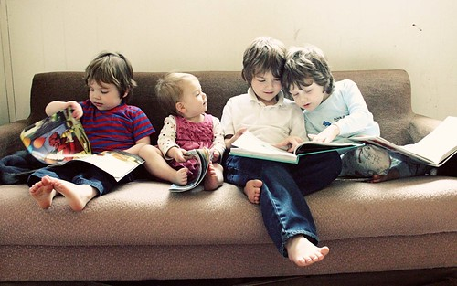 the kids reading