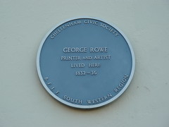 Photo of George Rowe blue plaque