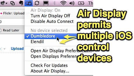 Air Display permits multiple iOS control devices