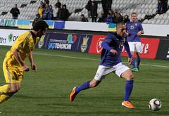 Emir Bajrami, Sverige-Ukraina, GSP Stadium, Nicosia, Cypern (Dan W Boter) Tags: sweden sverige fotboll ayianapa cypern fctwente emirbajrami herrlandslaget