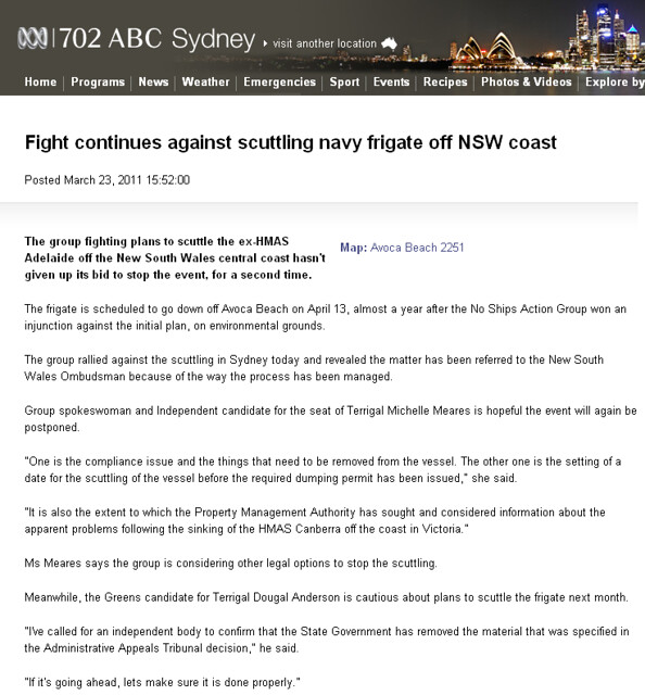 ABC 702 HMAS Adelaide story