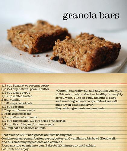 Peace & love granola bars