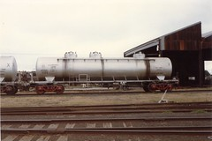 VTQX 631 X Newport Workshops circa 1980s (booksvic) Tags: tank railway vr wagons vline