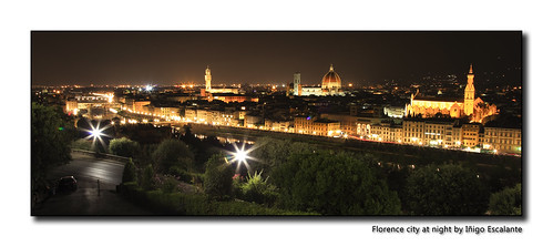 Florence city at night