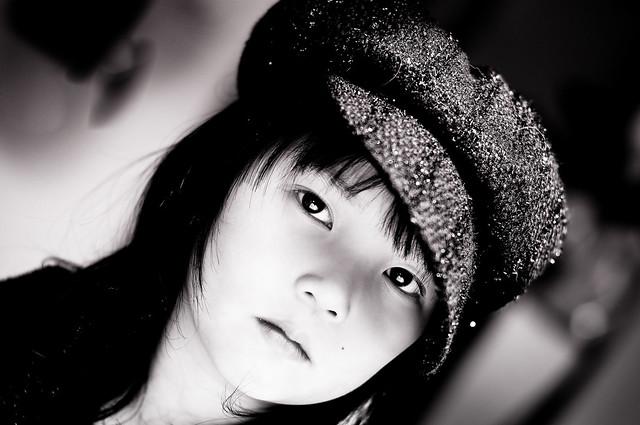Dahlia's hat 025 b&w