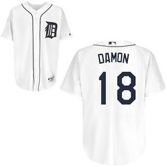 Detroit Tigers #18 Johnny Damon White Home Jersey (Terasa2008) Tags: jersey johnnydamon detroittigers  cheapjerseyswholesale cheapmlbjerseys mlbjerseysfromchina mlbjerseysforsale cheapdetroittigersjerseys jerseycheapmlbjerseys