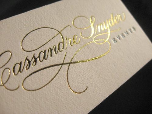 Cassandre Snyder Metallic Foil Closeup